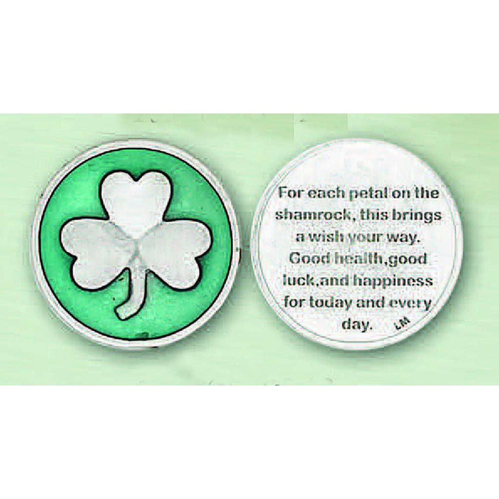 Enameled Token - Shamrock
