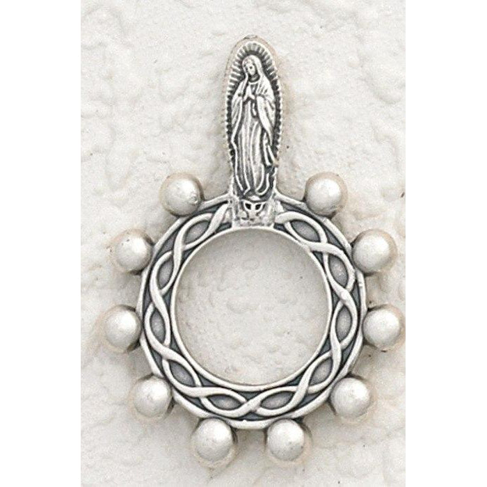Lady of Guadalupe - Finger Rosary - Silver Tone