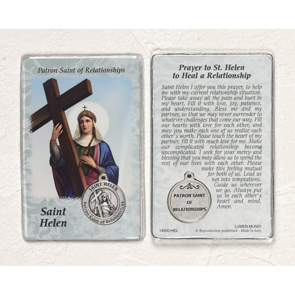 Healing Saint - St Helen Card with Medal