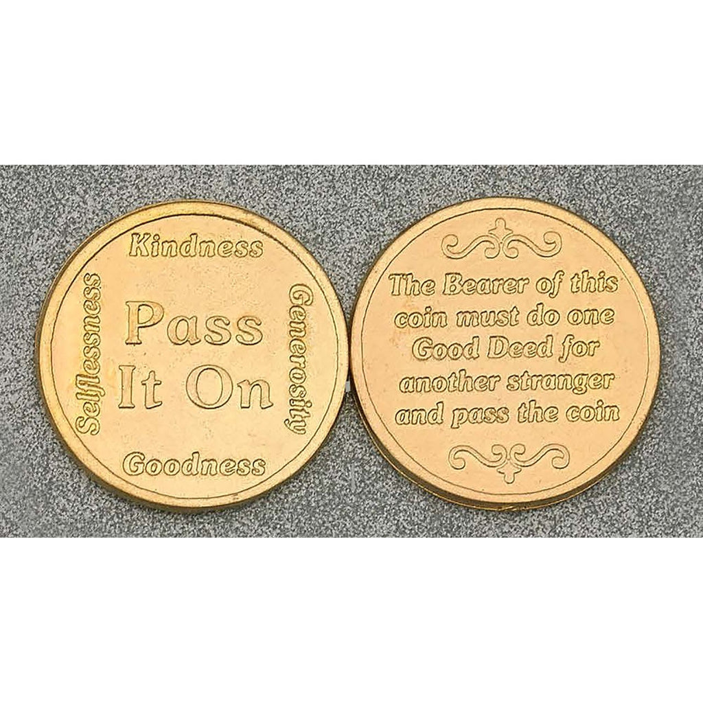Gold Tone Token - Pass it On