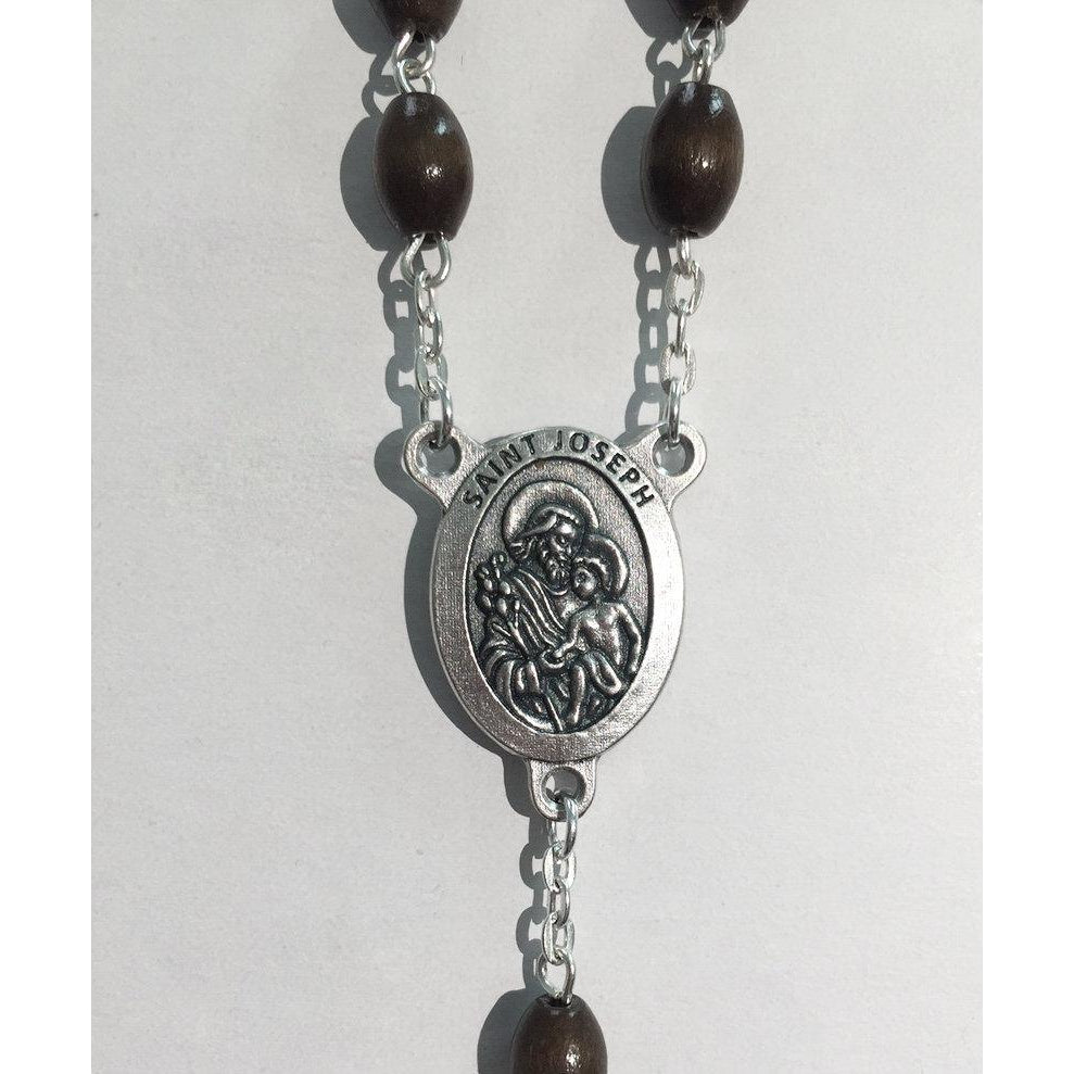 Limited Edition St Joseph Rosary - Wood