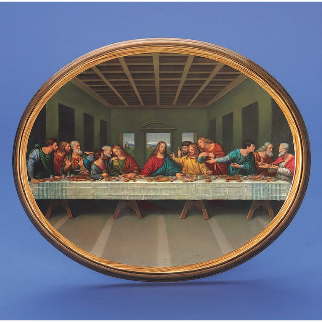 Oval Picture Last Supper - 2 Sizes