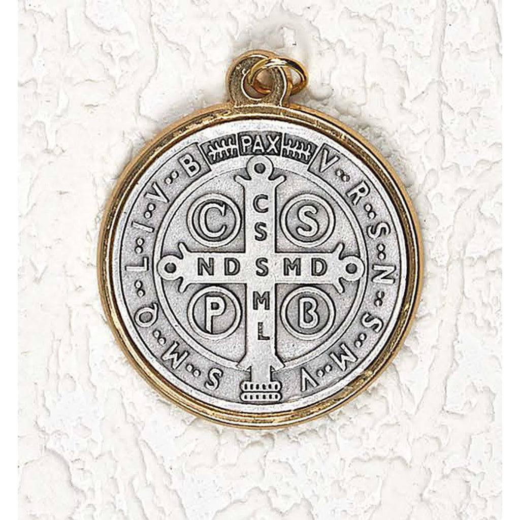 Saint Benedict Two Tone Medals - 12 Options
