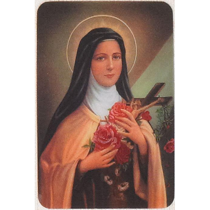 Saint Therese - Holographic 3D Cards - Pack of 25