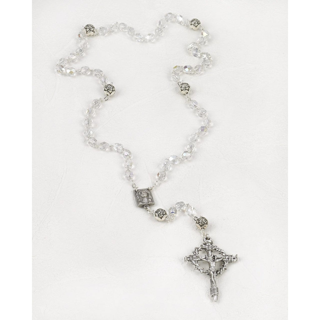 Clear Glass Multi Faceted Easter Rosary