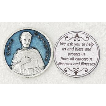 Enameled Token - St Peregrine - Pack of 25