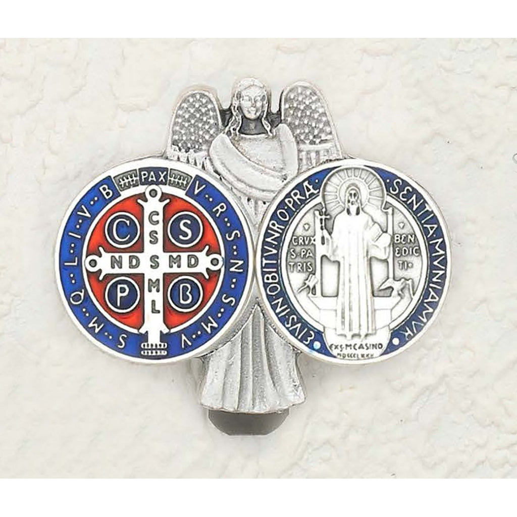 Saint Benedict - Guardian Angel - Enameled Visor Clip - Pack of 3