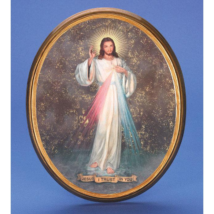 Oval Picture Divine Mercy - 2 Sizes