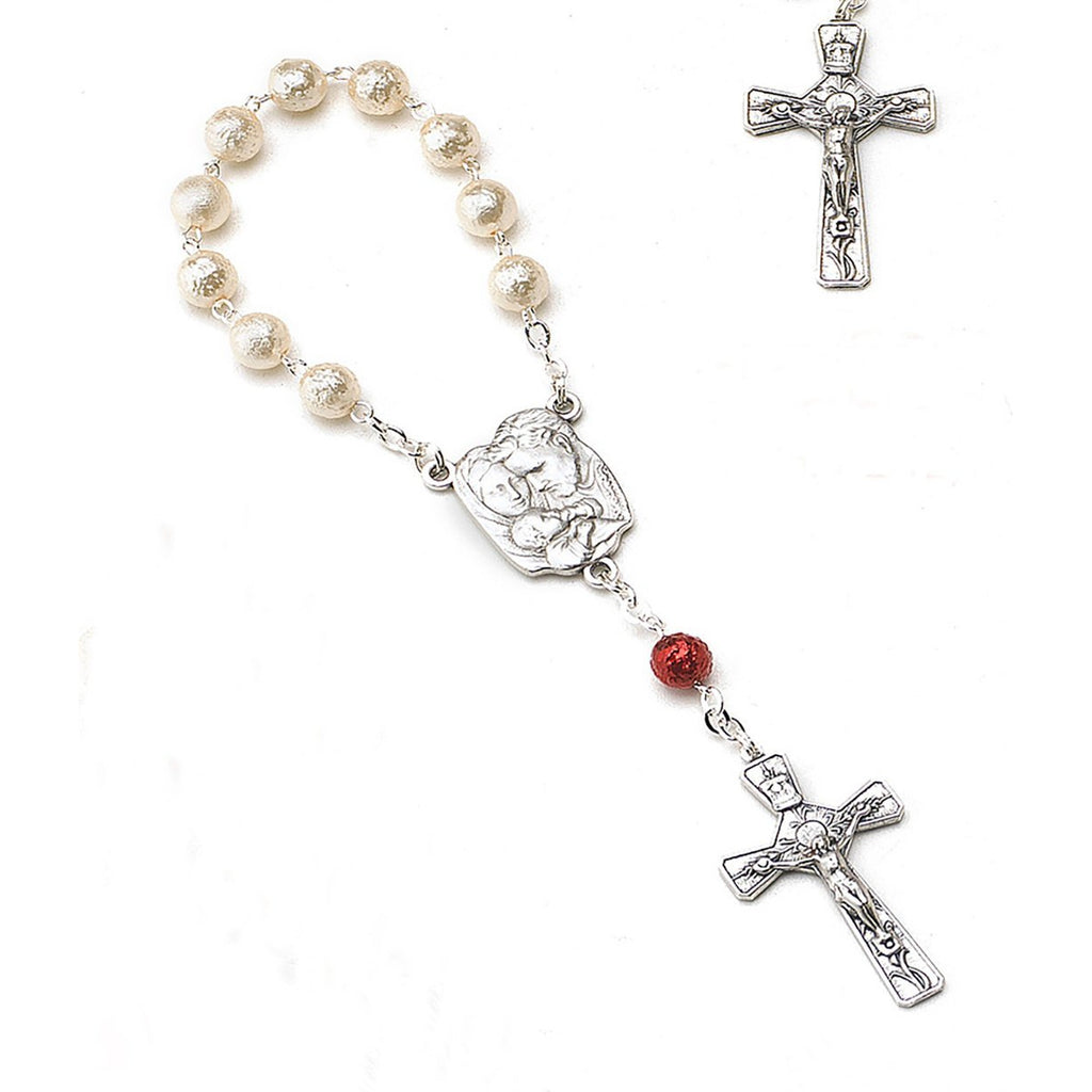 Holy Family - Imitation Pearl Decade Rosary