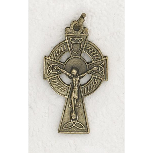 Brass Tone Deluxe Celtic Cross - 4 Options