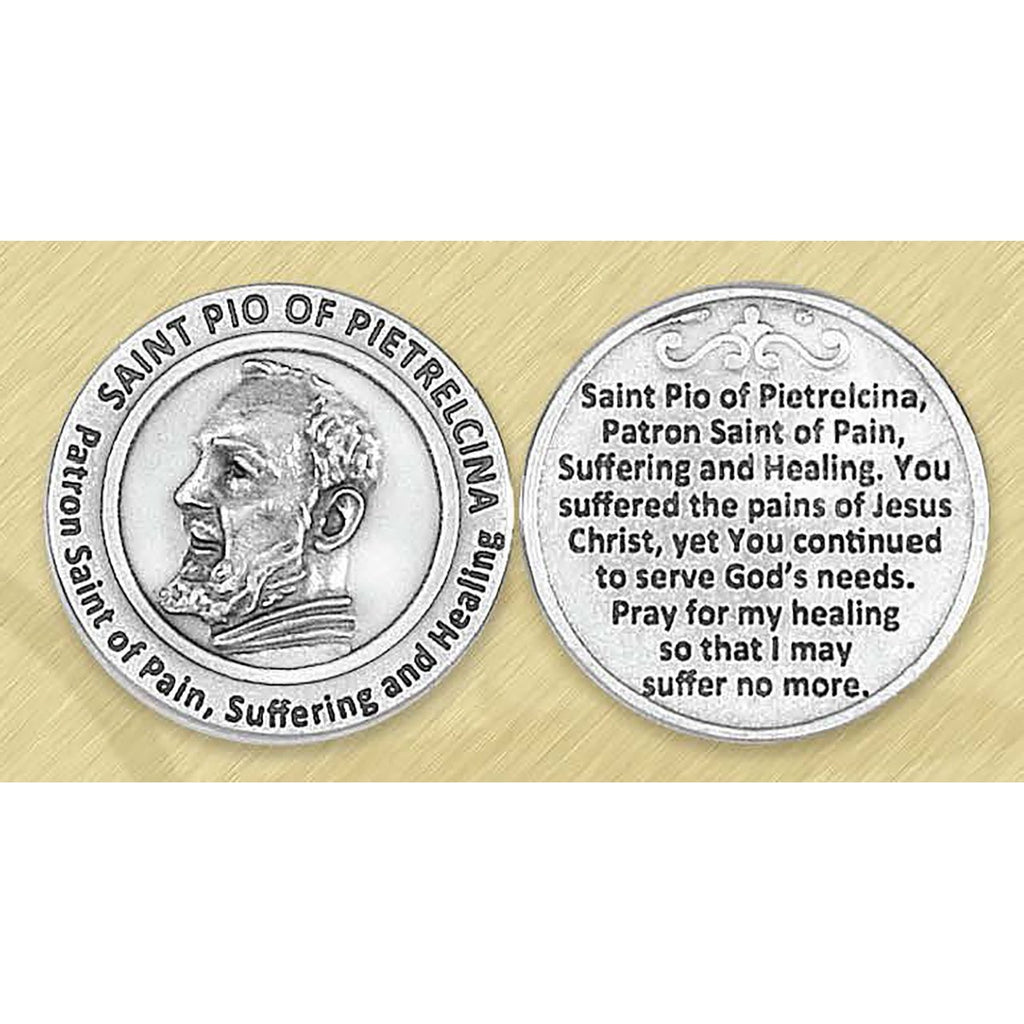 Healing Saint - St Pio Pocket Token