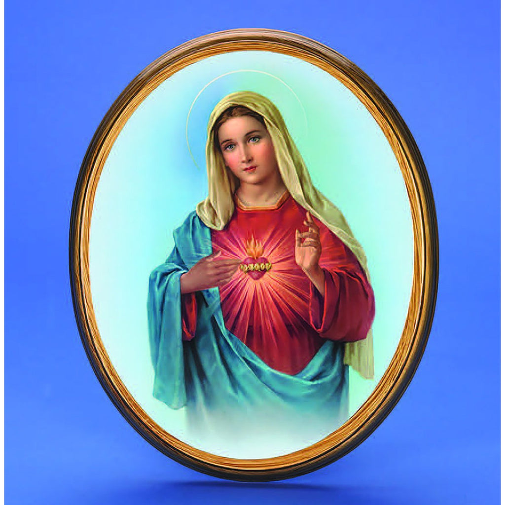 Oval Picture The Immaculate Heart of Mary - 2 Sizes