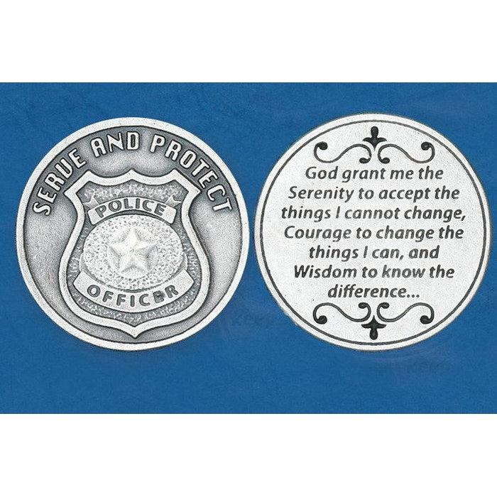 Christian Token - Serenity - Serve and protect - Police
