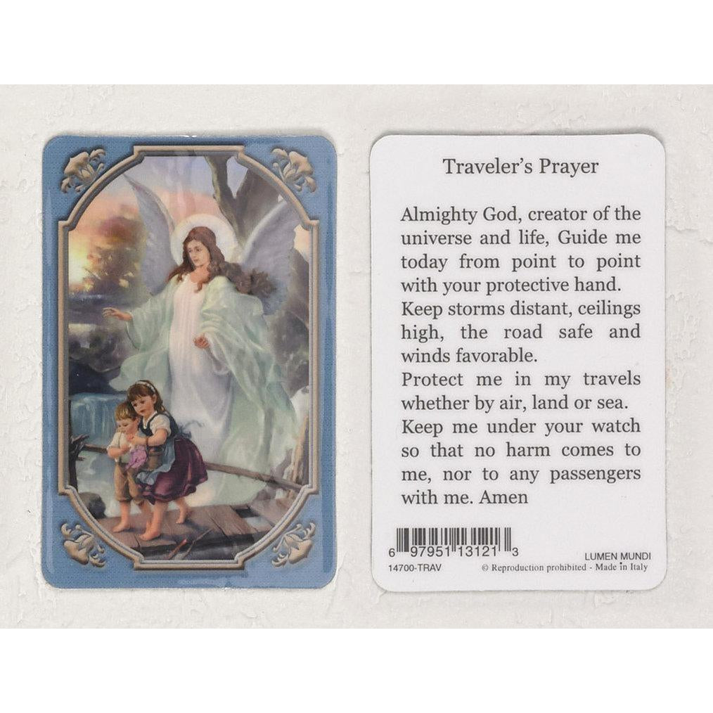 Daily Inspiration Plastic Prayer Card - Guardian Angel - Pack of 25