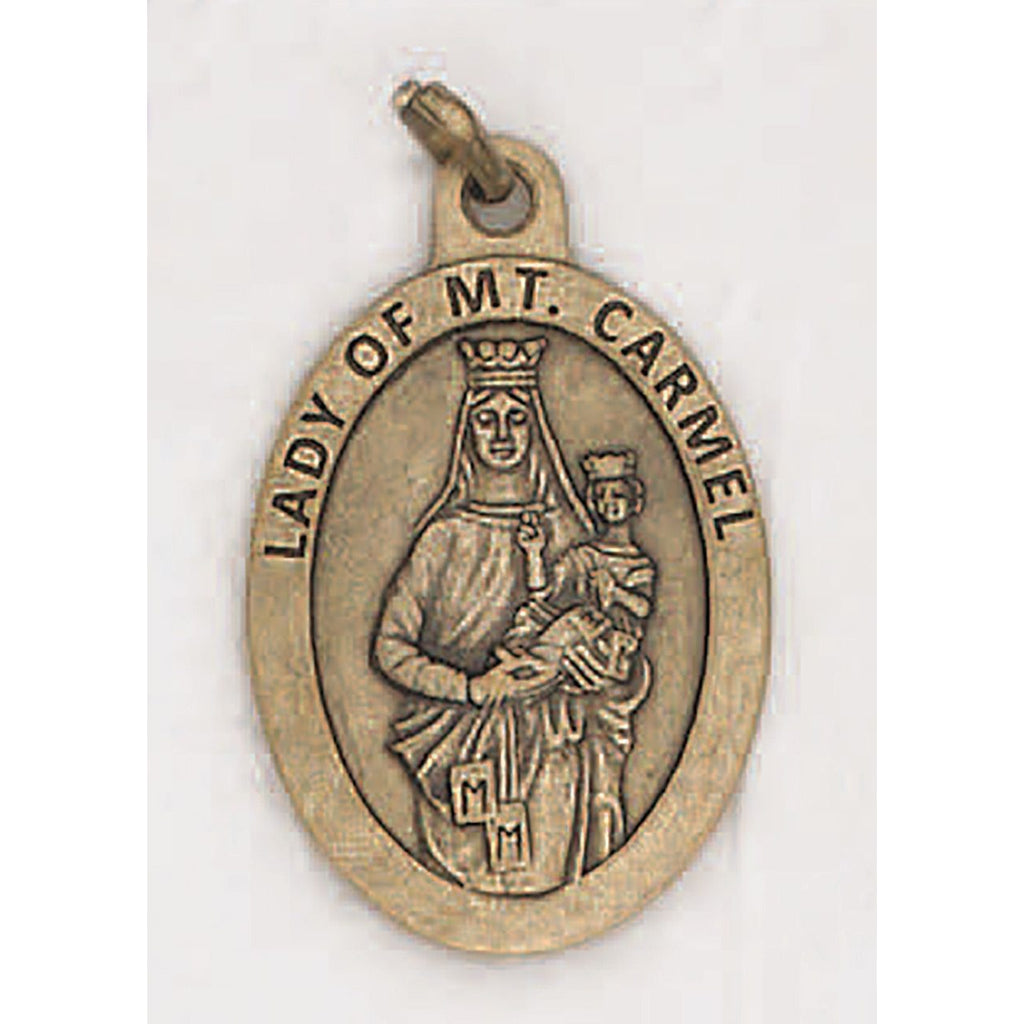 Mount Carmel Premium 1 inch Brass Tone Double Sided Medal - 4 Options
