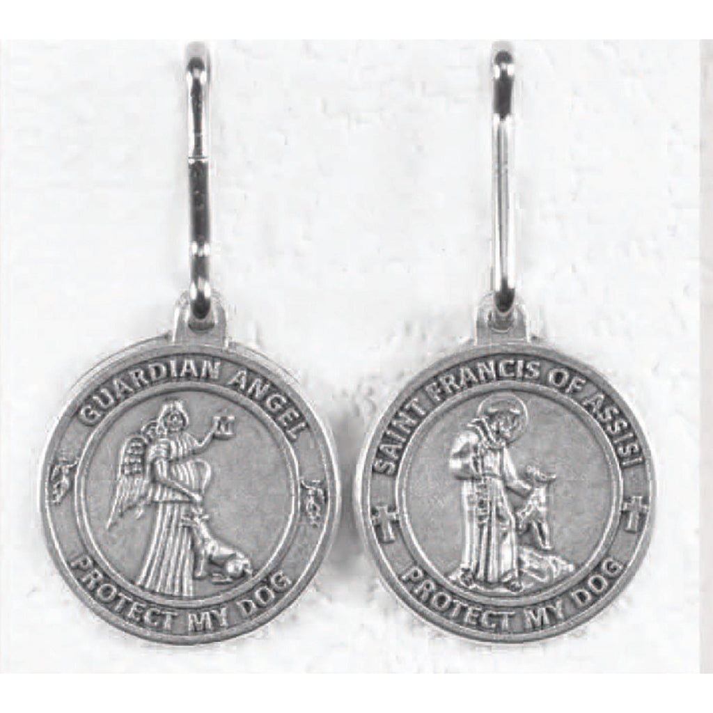 Saint Francis/Guardian Angel - 1 Inch Pet Medal - Pack of 6