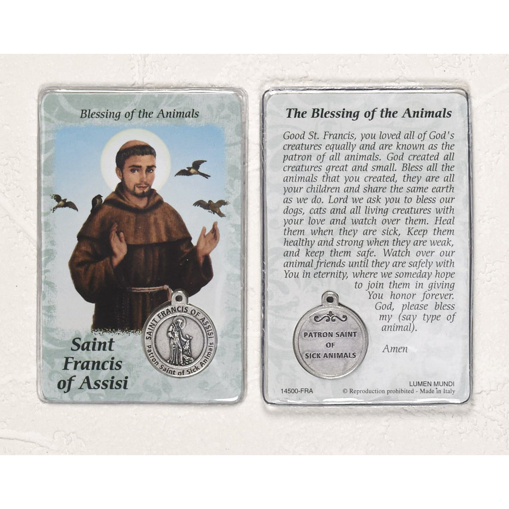 Healing Saint - St Francis Card with Medal