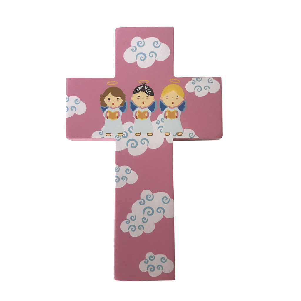 Light of the World Small Angel Cross - Pink - Pack of 6