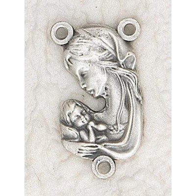 Mother and Child Bust Rosary Center - Pack of 25