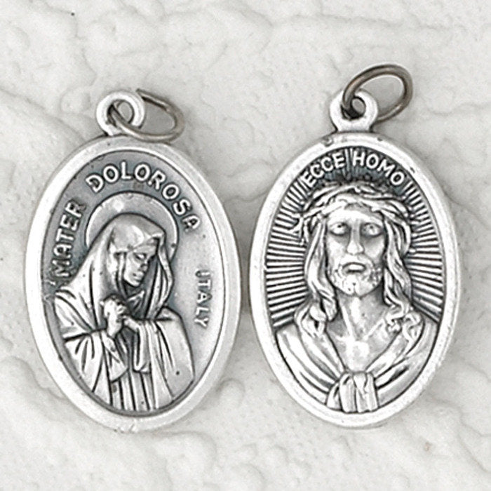 Mater Delorosa (Lady of Sorrows) / Ecce Homo Double Sided Medal - 4 Options