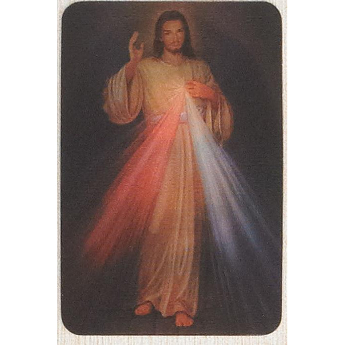 Divine Mercy - Holographic 3D Cards - Pack of 25