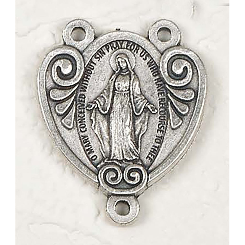 Miraculous Mary Rosary Center - Pack of 25