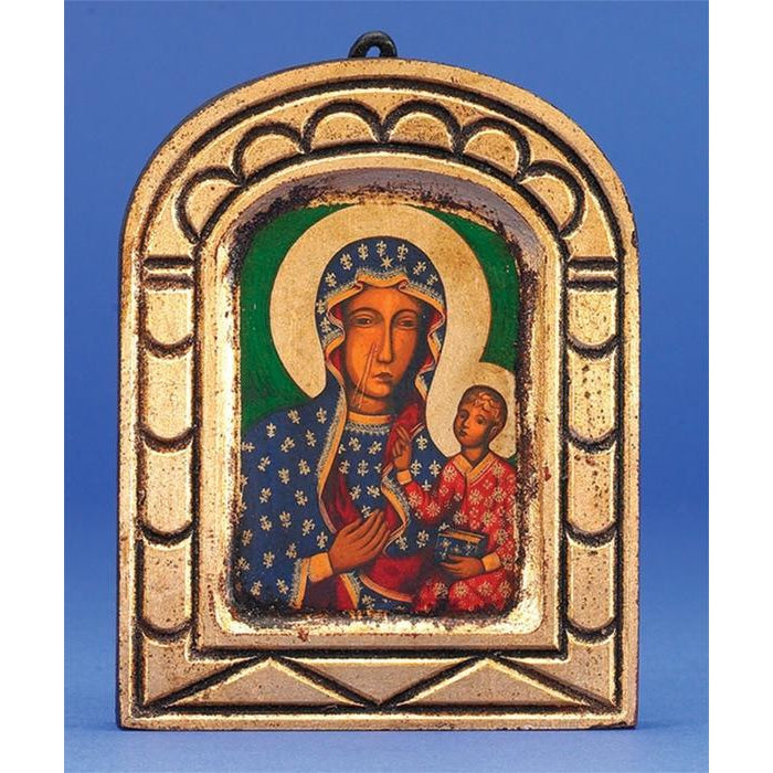 Lady of Czestochowa - Arched Gold Leaf