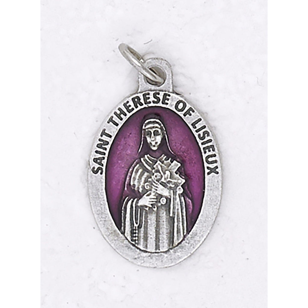 Saint Therese Premium 1 Inch Enameled Medal - 4 Options