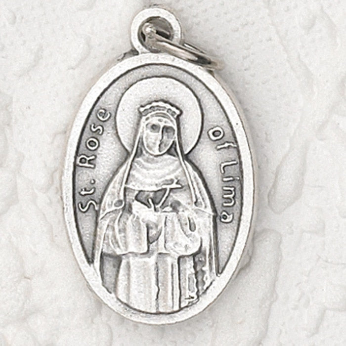 St. Rose of Lima Pray for Us Medal - 4 Options