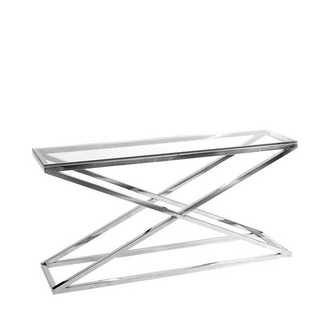 Console Table Criss Cross