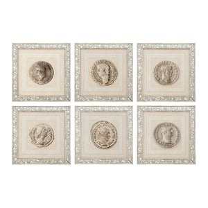 Prints Roman Coins set of 6