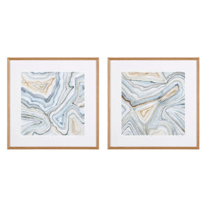 Prints Agate Abstracts set of 2