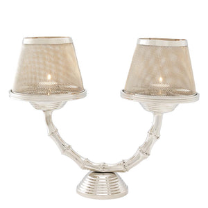 Candle Holder Gallions Double