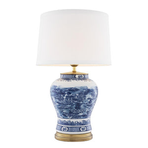 Table Lamp Chinese Blue