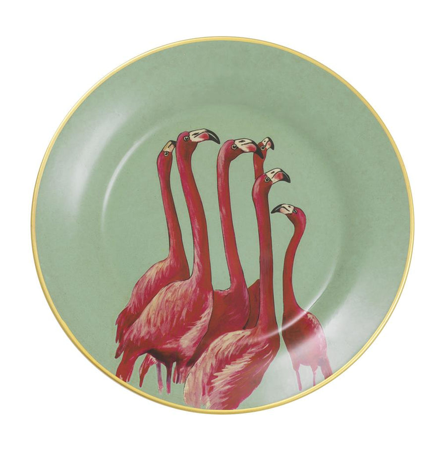 Wall Decoration Plates Flamingo set of 8