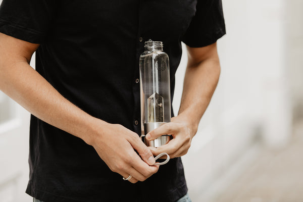 Crystal Quartz Water Bottle