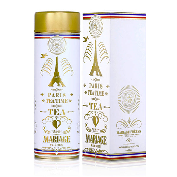 Paris Tea Time Thé Blanc Parisien 90 gr - witte thee