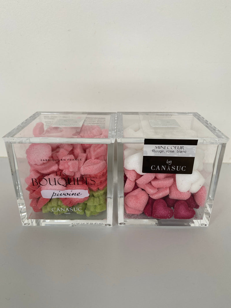 Crystal cube - Bunch of Peonies sugars pink, green