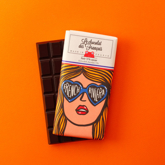 French Riviera Pure chocolade extra dark chocolate 71%