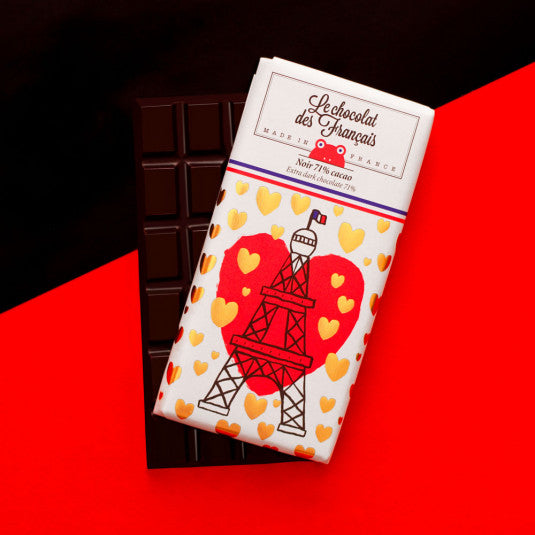 La Tour Eiffel Coeur Pure chocolade extra dark chocolate 71%