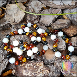 3 Tiger Eye and Moonstone Necklace