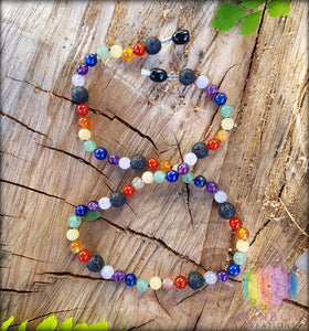 Rainbow Chakra Diffuser Necklace