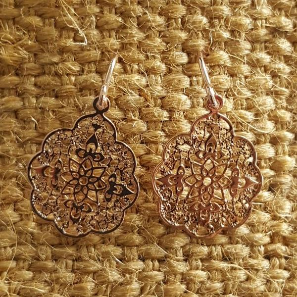 Rose Gold Snowflake Earrings