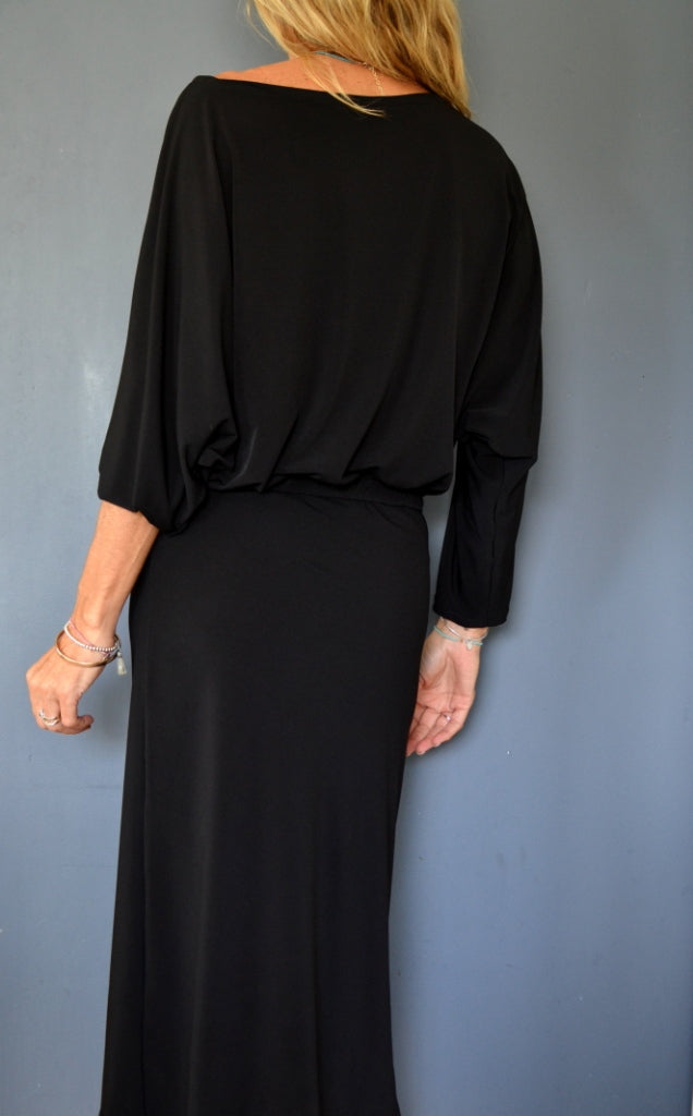 Black Ls Kimino Dress