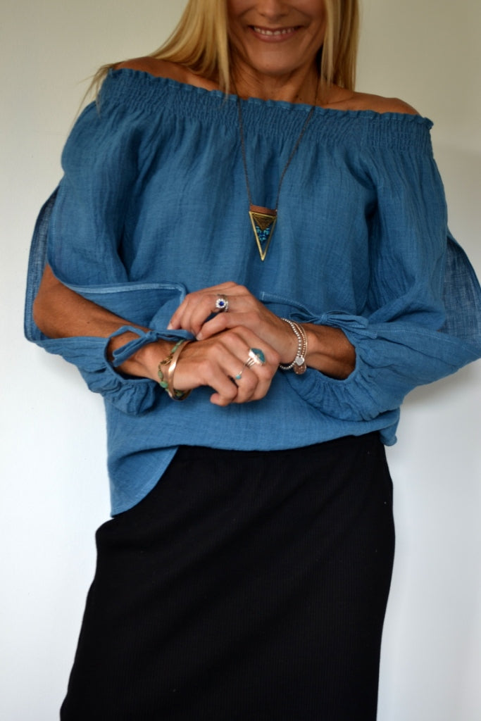 Ocean Linen Split Sleeve Top