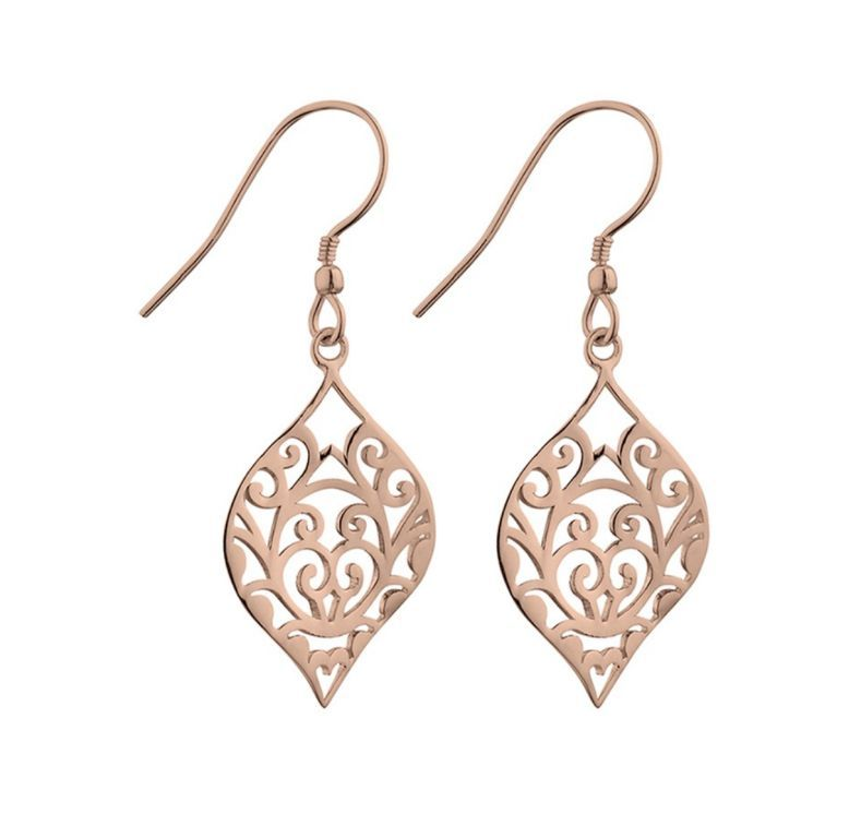 Rose Gold Twisted Filigree Earrings