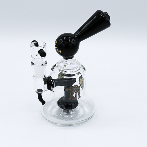 Black/STRW Small Glass Water pipe With Shower Perc