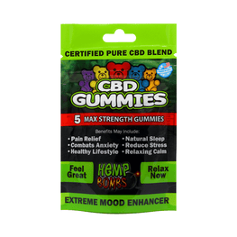 Urban Vape & CBD - Hemp Bombs - 5 Count CBD Gummies (12 Bags per Sleeve)