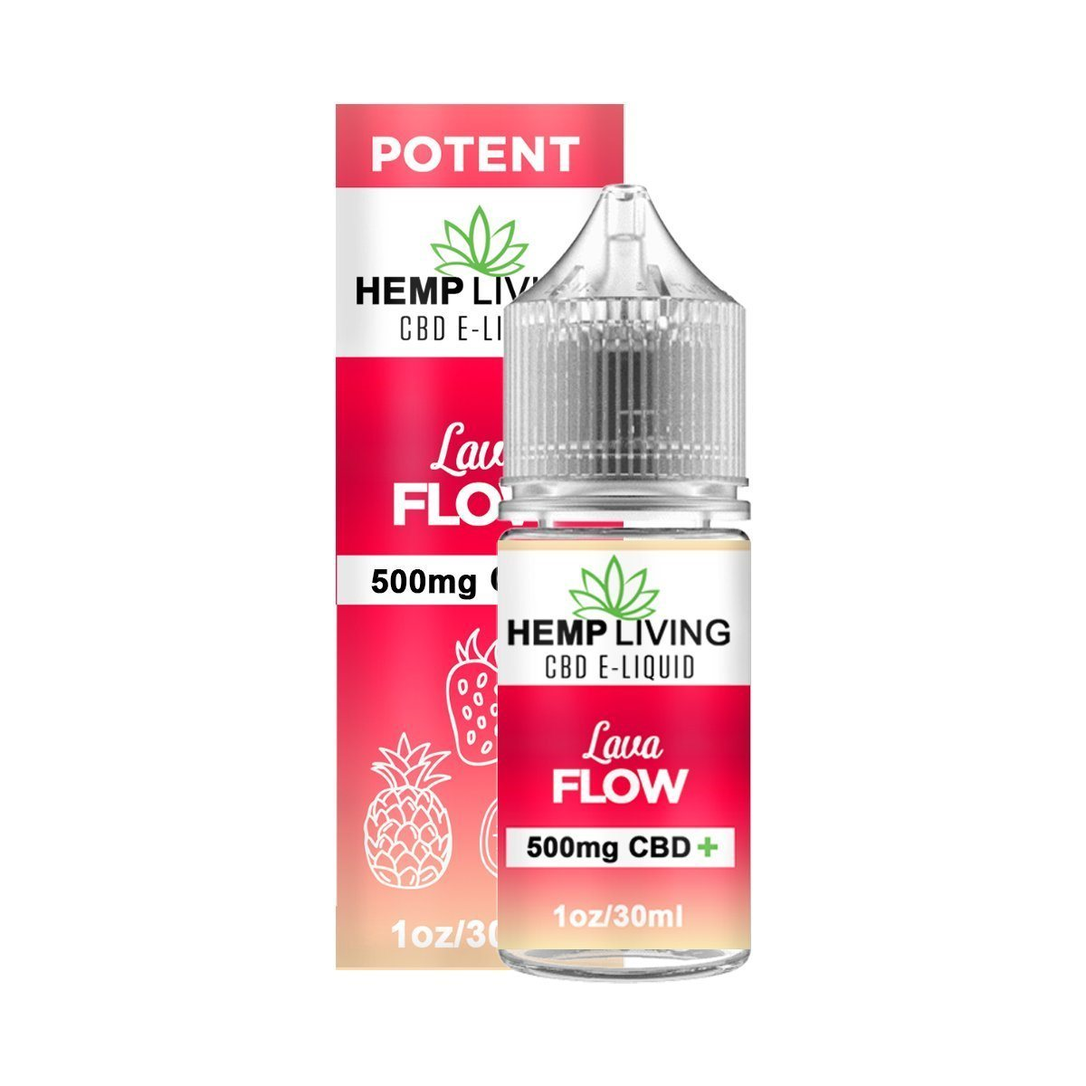 Hemp Living - CBD E-Liquid - Lava Flow - 30ML - juice - Urban Vape and CBD