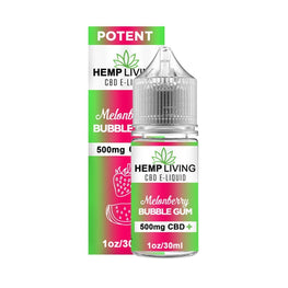 Hemp Living - CBD E-Liquid - Melonberry Bubble Gum - 30ML - juice - Urban Vape and CBD